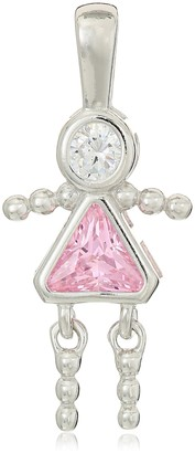 Amazon Collection Sterling Silver AAA Cubic Zirconia Simulated Birthstone Babies Girl Charm October