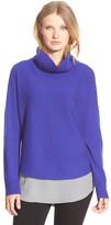 Eileen Fisher Draped Turtleneck Wool Sweater