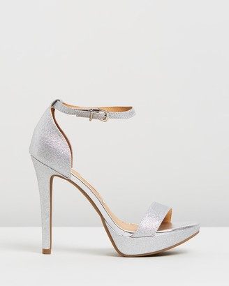 Vizzano - Women's Silver Heeled Sandals - Phoebe Heels - Size One Size, 5 at The Iconic