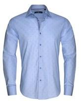 Stone Rose Men's Sky Blue Geometric Button Up Shirt.