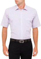 Van Heusen S/S Grid Check Classic Fit Shirt