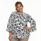 Apt. 9 Plus Size Bell-Sleeve Blouse