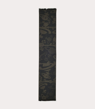 Vivienne Westwood Five In A Row Orbs Scarf Anthracite