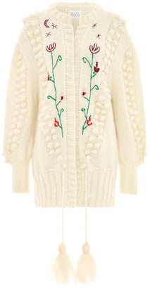 Gloria Mohair Midi Cardigan Cream