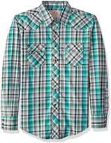 Wrangler Men's Two Pocket Long Sleeve Western Shirt