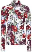 Erdem Kelly floral-printed turtleneck top