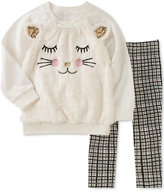 Kids Headquarters 2-Pc. Faux-Fur Sweatshirt and Leggings Set, Baby Girls (0-24 months)