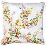 Paisley Flowers Silk Throw Pillow Sivaana