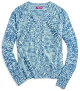 Aqua Girls' Slub Knit Sweater , Sizes S-XL - 100% Exclusive
