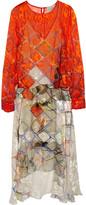 Preen by Thornton Bregazzi Leigh printed devoré silk-chiffon dress
