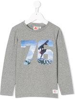 American Outfitters Kids 76 snowboard print sweatshirt