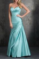 Allure Bridals Strapless Satin Gown