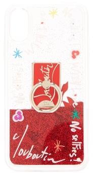 Christian Louboutin Loubiring Glitter Iphone X & Xs Phone Case - Red Multi