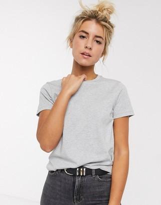 ASOS DESIGN ultimate organic cotton crew neck t-shirt in gray marl