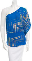 Parker One-Shoulder Silk Top w/ Tags