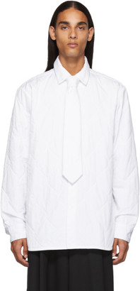 Dries Van Noten White Quilted Military Shirt