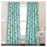 Lush Decor Cupcake Ice Cream Window Curtain Set Turquoise (52