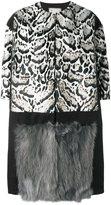 Antonio Marras animal print fur coat - women - Cotton/Fox Fur/Goat Fur/Wool - 42