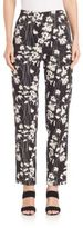 Donna Karan Printed Slim-Fit Pants