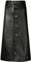 Balenciaga lambskin pencil skirt