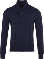 Oxford Felix Shawl Collar Pullover Nvy X