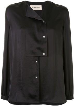 PortsPURE Asymmetric Neck Loose-Fit Shirt