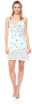 Cooper & Ella Women's Daisy Mixed Print Isa Ruffle Dress