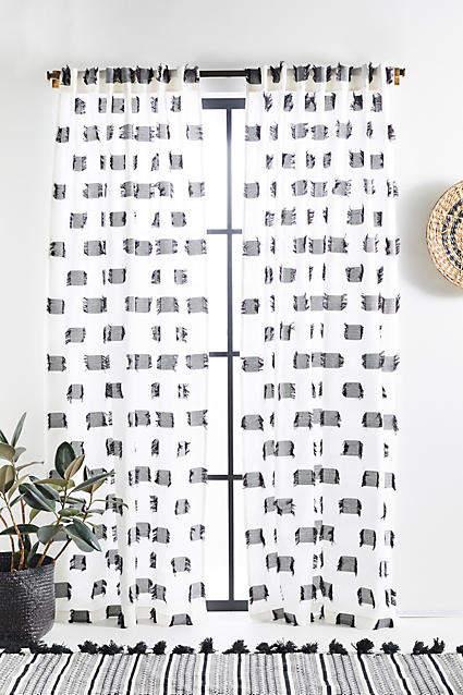 Anthropologie Textured Cira Curtain