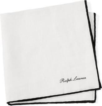 Ralph Lauren Tipped Linen Pocket Square