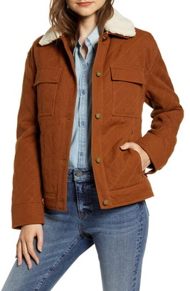 Pendleton Sidney Barn Coat with Faux Shearling Collar