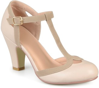 Journee Collection Olina T-Strap Pump
