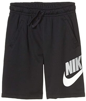 Nike Sportswear Club + HBR Fleece Shorts (Big Kids) (Black/Black) Boy's Shorts
