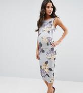 Asos Tall Floral Midi Bodycon Dress
