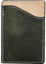 J.fold Men's Shelby Flat Stash Leather Card Carrier