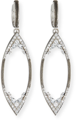 Jude Frances City Lights Brushed Open Marquis Earring Charms