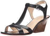 Nine West Women's Geralda Leather Wedge Sandal