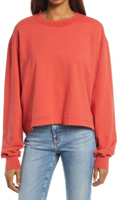 Treasure & Bond Women's Boxy Crop Sweatshirt