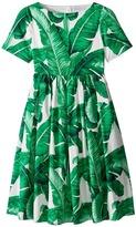 Dolce & Gabbana Botanical Garden Banana Leaf Dress (Big Kids)