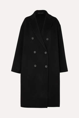 Acne Studios Odethe Double-breasted Wool And Cashmere-blend Coat - Black
