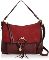 See by Chloe Joan Medium Suede and Leather Shoulder Bag