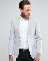 Asos Slim Blazer In White Check