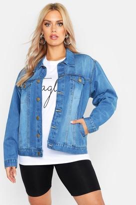 boohoo Plus Oversized Vintage Look Denim Jacket