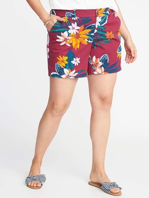 """Old Navy Plus-Size Mid-Rise Everyday Khaki Shorts (7"""")"""
