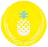 Sunnylife Pineapple Paper Plates - Set of 12