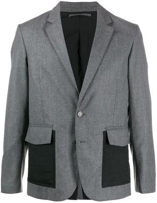 Kenzo Expedition contrast pocket blazer