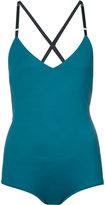Malia Mills crisscross strap swimsuit - women - Nylon/Spandex/Elastane - 2