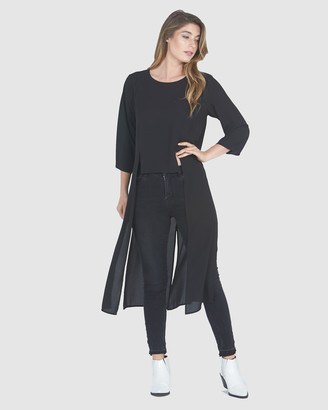 Faye Black Label High Split Tunic