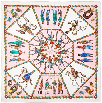 Hermes Les Chevals, By Carre Silk Scarf