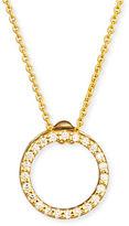 Roberto Coin 18k White XS Diamond Circle Pendant Necklace
