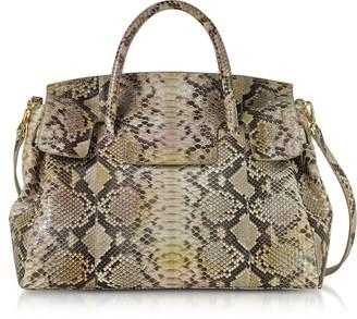 Ghibli Python Leather Large Satchel Bag